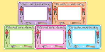 This Week we are Learning Sign - we are learning, sign, learning