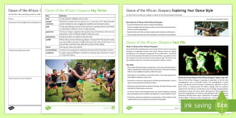 Dance of the African Diaspora Activity Pack - dance, african dance, ks3 dance, ks4 dance, choreography, dance appreciation, dance styles