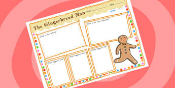 The Gingerbread Man Story Review Writing Frame - story review