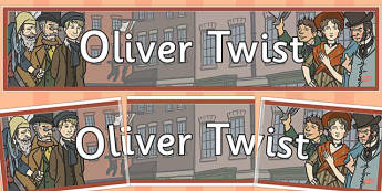 Oliver Twist Display Banner - oliver twist, display, banner