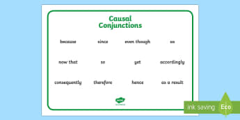 Causal Conjunctions Word Mat - casual conjunctions, word mats, word, cards, conjunctions