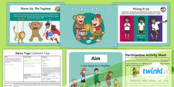 Twinkl Move - Year 2 Dance: Toys Lesson 5 - Clockwork Toys - Move, KS1, Key Stage 1, Year 2, Y2, Dance, PE, Physical Education, Toys, Clockwork Toys, Sport, Exer