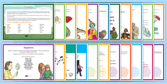 Poetry Terms Display Pack - Literacy, assonance, simile, metaphor, display, hyperbole, verse, stanza