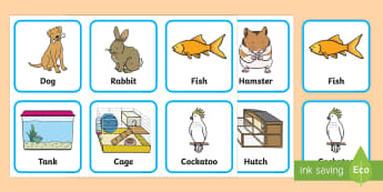 Pets and Where They Live Matching Cards - on the farm, matching cards, farm animals, where farm animals live, farm animal habitats, aniamls, f