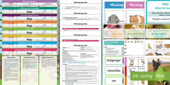 EYFS Pets-Themed Bumper Planning Pack - Early years planning, Plan, continuous provision, enhancements, adult led, animals, living things, r