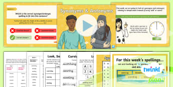 PlanIt Spelling Year 6 Term 3B W5: Temperature Synonyms & Antonyms Spelling Pack - Spellings Year 6, synonym, antonym, y6, spag, gps, list, words, weekly,