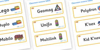 Goldfish Themed Editable Construction Area Resource Labels - Themed Construction resource labels, Label template, Resource Label, Name Labels, Editable Labels, Drawer Labels, KS1 Labels, Foundation Labels, Foundation Stage Labels
