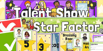 Talent Show Audition Role Play Pack - talent show, role play