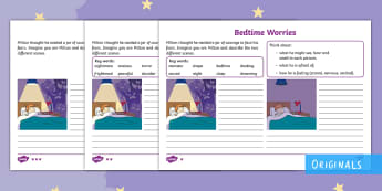 The Making of Milton Bedtime Worries Differentiated Activity Sheets - Twinkl originals, fiction, Describe, Thoughts, Feelings, Courage, Afraid, worksheets,