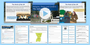 The United Nations Lesson Pack - United Nations, conflict, war, peace, peacekeeping, resolution