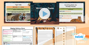 PlanIt Y6 Animals: The Tyger Lesson Pack - Animals: The Tyger, tigers, poetry, reading, aloud, performing, poem, writing, literacy, english, wr