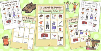 The Elves and the Shoemaker Vocabulary Poster - vocabulary poster