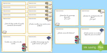 Tarjetas de trivial: Preguntas sobre la lectura - lectura, guiada, guíada, preguntas, leer, comprensión, lector, lectora, lee, lea, trivial, tarjeta