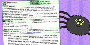 Working Web EYFS Adult Led Focus Activity - early years, work web
