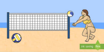 The Olympics Editable Images Beach Volleyball - Beach Volleyball, Olympics, Olympic Games, sports, Olympic, London, images, editable, event, picture, 2012, activity, Olympic torch, medal, Olympic Rings, mascots, flame, compete, events, tennis, athlet