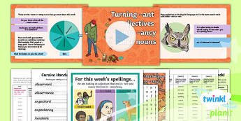 PlanIt Y6 Term 1A W3: Adjectives with  -ant and nouns with -ancy or  -ance Spelling Pack