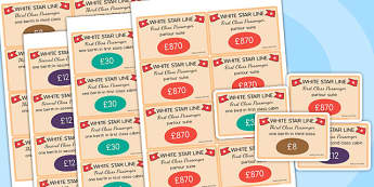 The Titanic Role Play Tickets - titanic, role play, tickets