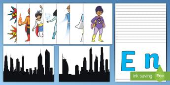 Superhero-Themed Door Display Pack - welcome, learners, Spider-man, super girl, KS1, year 1, Year 2, EYFS