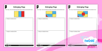 Y6 PlanIt Ratio and Proportion Home Learning Tasks - Ratio and Proportion, flags, challenge, year 6 practise, sats practise, sats, scale, scale factor