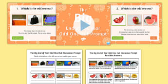 LKS2 The Big End of Year Odd One Out Quiz Pack - Game, team, reasoning, year 3, year 4