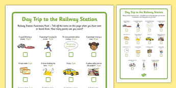 Day Trip to the Railway Station Awareness Hunt - day trip, railway, station, awareness, hunt