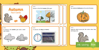 Autumn Fact Cards - autumn, fact cards, display, key words, seasons,Irish