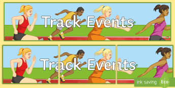 Athletics Track Banner - athlete, olympics, jumping, throwing, running