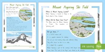 Mount Aspiring Ski Field Fact File - New Zealand, Winter, Seasons, Snow, Skiing, Snowboarding, Mountains, Ski Fields, Snow Day