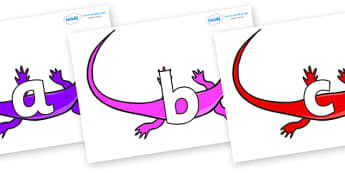 Phoneme Set on Skink Lizards - Phoneme set, phonemes, phoneme, Letters and Sounds, DfES, display, Phase 1, Phase 2, Phase 3, Phase 5, Foundation, Literacy