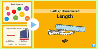 Year 1 Length PowerPoint - Mathematics, Measurement and Geometry, Using units of measurement, ACMMG019, measuring length, compa