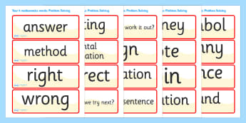 Problem Solving Vocabulary Cards (Year 4) - problem solving vocabulary cards, year 4, year four, vocabulary cards, cards, flashcard, problem solving, how to solve a problem, solve, solution, problems, how to, finding a solution, problem