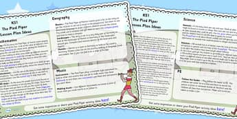 The Pied Piper Lesson Plan Ideas KS1 - pied piper, lesson, KS1