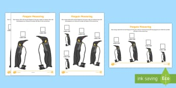 Penguin Measuring with Cubes Differentiated Activity Sheet - The Arctic, Polar Regions, north pole, south pole, explorers, measure, measuring, measurement, centi