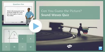 Sound Waves PowerPoint Quiz PowerPoint - PowerPoint Quiz, Sound, Waves, Sound Waves, Hertz, Amplitude, Frequency