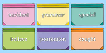 Year 3 and 4 Common Exception Words on Books - year 3, year 4, common exception words, flowers, nature, plants,common excpetion words,cew, spellings, spag, ks2,,speeling,speling,spellinh,adjacent consonants,common excpetion words,cew,sapg,soag,plnts