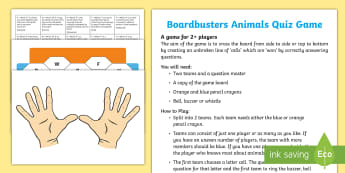 Boardbusters Animals Quiz Pack - Blockbusters, Quiz, Fun, TV Quiz, Contest