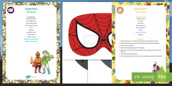Superhero Sensory Bin and Resource Pack - Sensory play, sensory tray, superman, batman, Superheroes