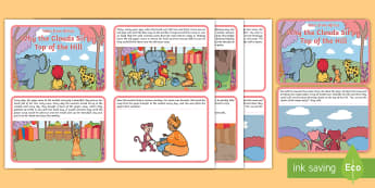 Why the Clouds Sit on Top of the Hill Story Cards - story, african tales, tinga tinga, potjie, gogo, monkey, myth