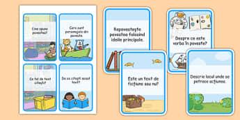 Înțelegerea lecturii - Cartonașe cu întrebări