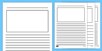 Blank Writing Frames - blank writing frames, writing template, blank, writing frames, word cards, flashcards, template, white