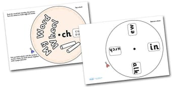 Phonics Digraph Word Wheel (ch) - Phonics, Digraph, word wheel, ch, DfES Letters and Sounds, Letters and Sounds