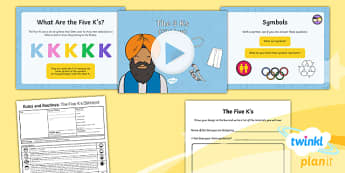 PlanIt - RE Year 2 - Rules and Routine Lesson 5: The Five K's (Sikhism) Lesson Pack - Rules and Routine, Sikhism, RE, Five K's, rules, Christianity, humanism, Islam
