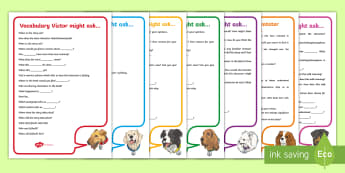 KS2 Focused Reading Skills Question Word Mats - michael rosen, interpretation, reading dogs, content domains, sats, guided reading, questioning, inf