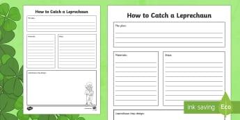 How to Catch a Leprechaun Activity Sheet - Saint Patrick's Day, STEM, leprechaun, trap, activity, saint patrick, science, technology, engineer