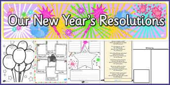 New Years Resolution Resource Pack - new years, resolution, pack