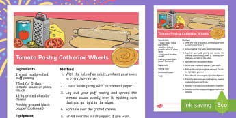 Sparks in the Sky Tomato Pastry Catherine Wheels Recipe - KS1, EYFS, cooking, home learning, Parents, Design and Technology, fireworks, bonfire night, firewor