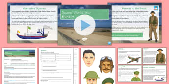 Dunkirk Differentiated Lesson Pack - World War II, British Army, France, Nazi, Evacuation, Operation Dynamo