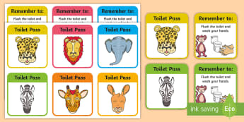 Tales from Africa Toilet Pass Cards - toilet passes, classroom management, Tinga tinga, Tales from Africa, bathroom pass, story, stories