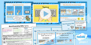 Computing: Microsoft Word Processing Skills: Typing Year 1 Lesson Pack 1