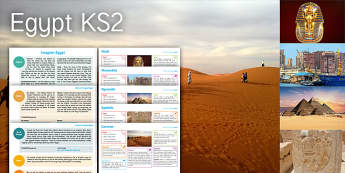 Imagine: Egypt KS2 Resource Pack - Egypt, Caravan, Symbols, Pyramids, Hieroglyphics, Alexandria, Sphinx, Mask, Tutankhamun, Pharaoh